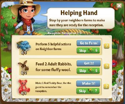 how to use helping hand in farmville 2