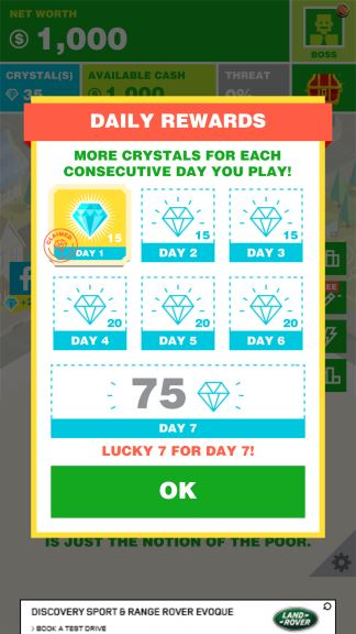 billionaire crystals cheat
