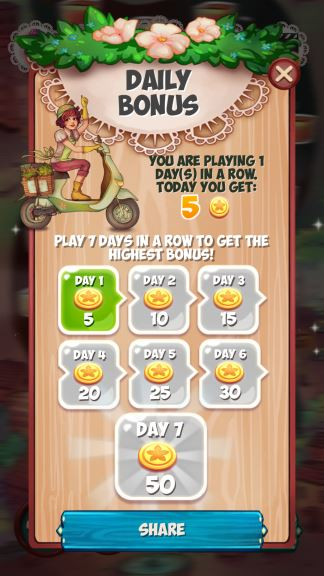 Blossom Jam daily coins cheat