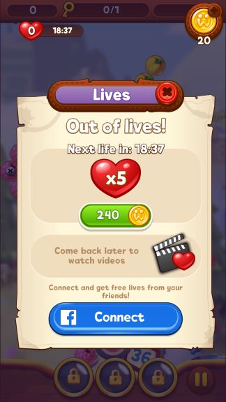 Bubble Island 2 cheat lives