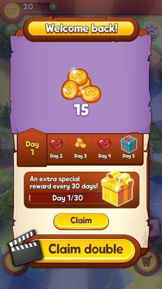 Bubble Island 2 daily bonus