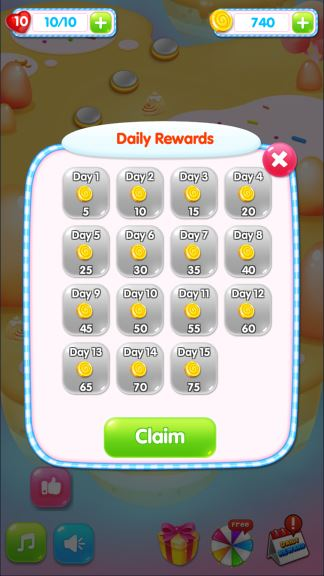 Candy Happy Day coins cheats