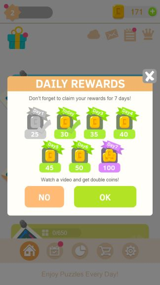 Puzzledom daily bonus cheat