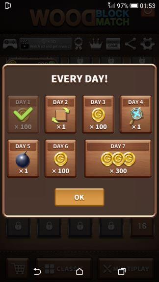 Wood Block Match Cheat Coins