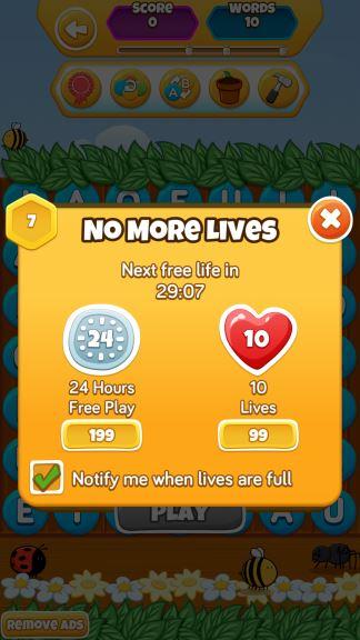 WordBuzz Cheats Lives