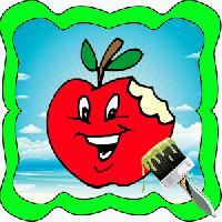 apple family cartoon coloring gameskip