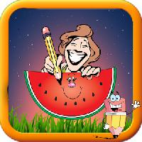 baby fruit cartoon coloring