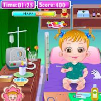 baby hazel goes sick gameskip