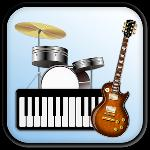 band game: piano, guitar, drum gameskip
