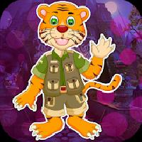 best game 446 cartoon tiger escape from real cave gameskip