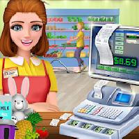 black friday supermarket: cashier girl gameskip