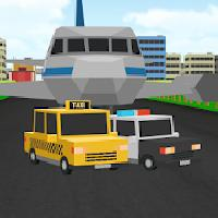 blocky city roads taxi airport gameskip