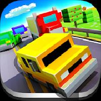 blocky highway: traffic racing gameskip