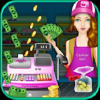 cash register supermarket girl gameskip