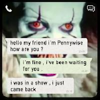 chat with pennywise - prank gameskip