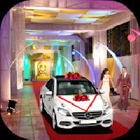 city wedding bridal white car transportation gameskip