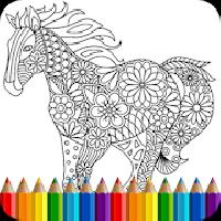 coloring book animals mandala