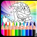 coloring book dorae cat gameskip