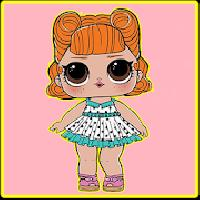 coloring pages surprise dolls, lol gameskip