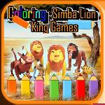 coloring simba lion game gameskip
