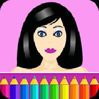 colouring pages: dress up