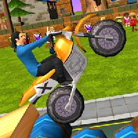 dirt bike - cartoon trial gameskip
