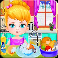 dish kids wash: girls games gameskip