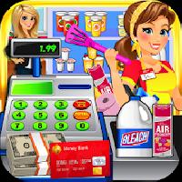 dollar store cash register sim and grocery shopping gameskip