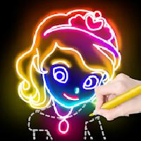 draw glow princess gameskip
