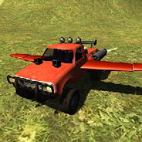 flying car: offroad pickup 4x4
