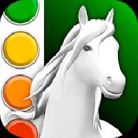 horse coloring book 3d gameskip