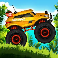 jungle monster truck kids race gameskip