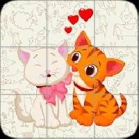 kids puzzle: cartoon cats gameskip