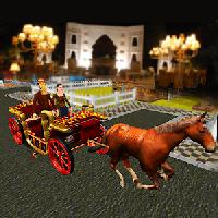 luxury wedding: horse carriage bridal city gameskip