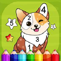magic color - kids coloring book by numbers gameskip
