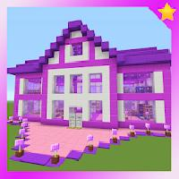map barbie pink house mcpe gameskip