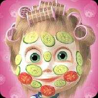 masha and the bear: hair salon and makeup games gameskip