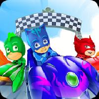 pj masks rush: kart racing gameskip