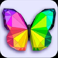 poly art coloring pages - color by number low poly gameskip