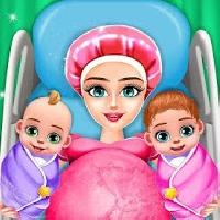 pregnant mom and twin baby care nursery game gameskip