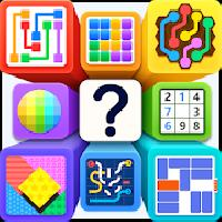 puzzle out - dots, hexa lines, pipes, tangram gameskip