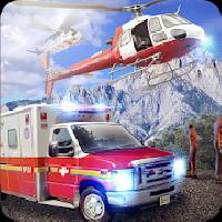 rescue ambulance and helicopter gameskip