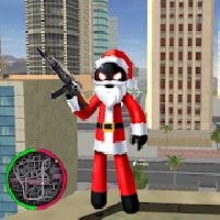 santa claus stickman rope hero gangstar crime gameskip