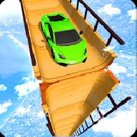 sky ramp car mega stunts big jump gameskip