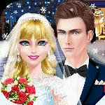 snow wedding day - girls salon