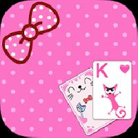 solitaire pink kitten theme gameskip