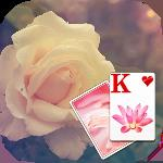 solitaire white rose theme gameskip
