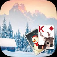 solitaire wintry scene theme gameskip