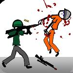 stickman soldier shooting