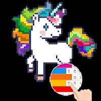 unicorn: color by number - pixel art gameskip
